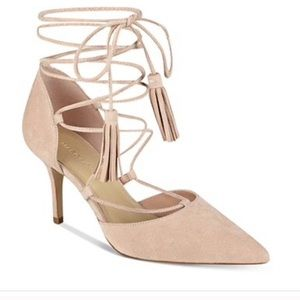 Marc Fisher Tamya Pink Suede Lace Up Pump